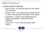 biblical mandates