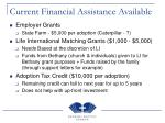 current financial assistance available