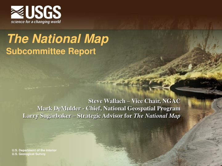 the national map subcommittee report n.