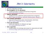 jra 3 calorimetry
