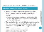 improving access to water s ervices1