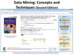 data mining concepts and techniques second edition
