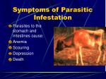 symptoms of parasitic infestation