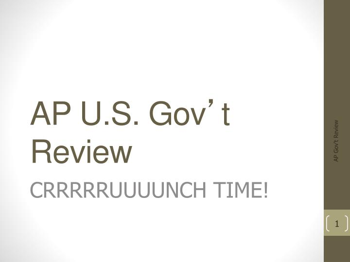 ap u s gov t review n.