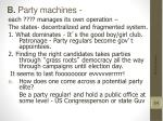 b party machines