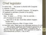 chief legislator