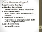 committees what types