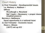 court history
