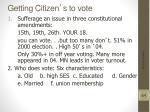 getting citizen s to vote