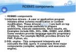 rdbms components