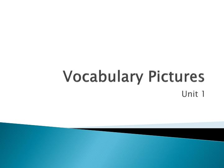 vocabulary pictures n.