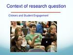 context of research question
