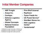 initial member companies