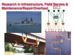 research in infrastructure field service maintenance repair overhaul