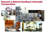 research in material handling intermodal transportation