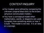 content inquiry