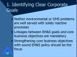 1 identifying clear corporate goals