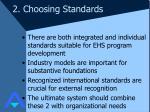 2 choosing standards