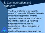 3 communication and authority