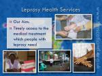 leprosy health services