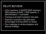 pilot review