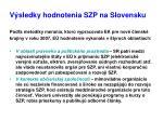 v sledky hodnotenia szp na slovensku