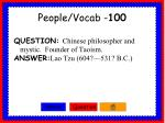 people vocab 100