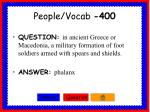 people vocab 400
