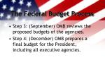 the federal budget process1