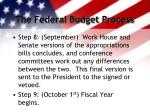 the federal budget process4