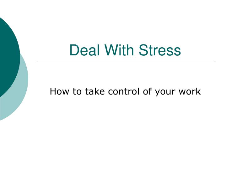 deal with stress n.