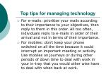 top tips for managing technology1