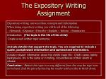 the expository writing assignment
