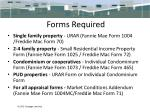 forms required