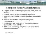 required report attachments