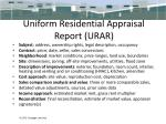 uniform residential appraisal report urar