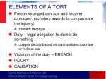 elements of a tort