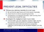 prevent legal difficulties1