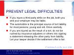 prevent legal difficulties2