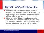 prevent legal difficulties3