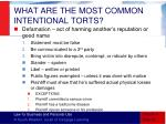 what are the most common intentional torts2
