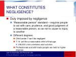 what constitutes negligence
