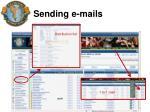 sending e mails