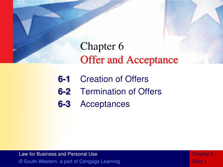 chapter 6 offer and acceptance n.