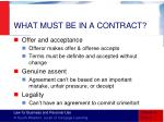 what must be in a contract