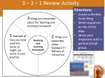 3 2 1 review activity