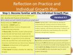 reflection on practice and individual growth plan