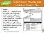 reflection on practice and individual growth plan1