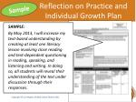 reflection on practice and individual growth plan2