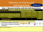 reflection on practice and self assessment